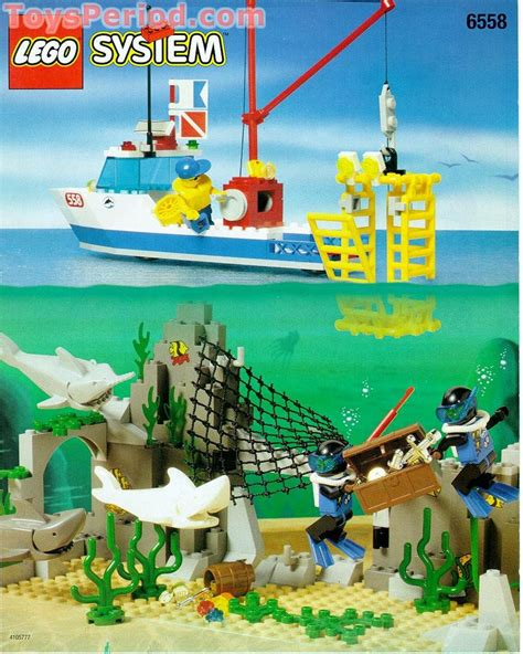 LEGO 6558 Shark Cage Cove Set Parts Inventory and