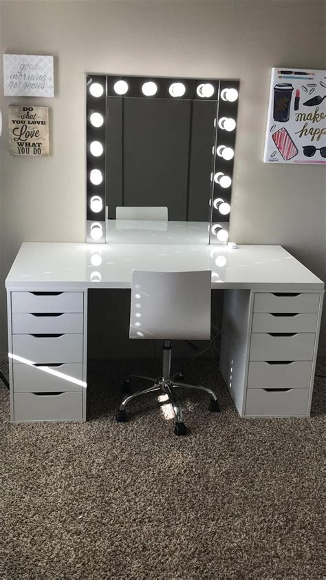 Makeup room inspiration! I love this vanity in my Makeup