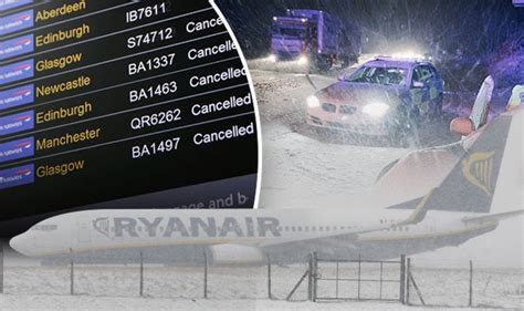 UK weather snow forecast: Is your flight cancelled? Latest