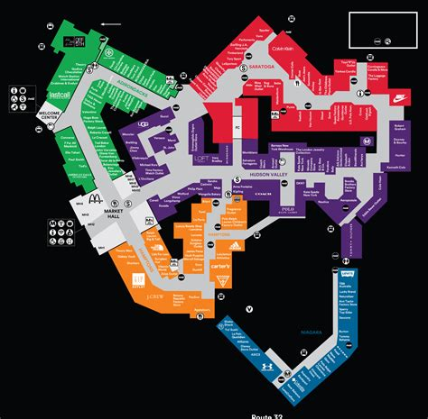 Center Map For Woodbury Common Premium Outlets® - A