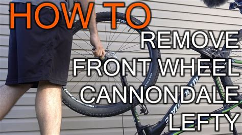 How to Remove Cannondale Lefty Front Wheel - YouTube