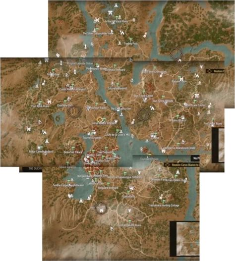 The Witcher 3 Blood And Wine Full Toussaint Map, Manticore