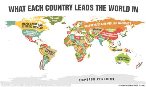 Map Monday: What's your country popular for? - htxt