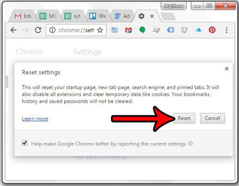 How to Reset Google Chrome to Default Settings - Solve