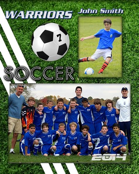 8x10 Soccer Player Profile Photoshop Template