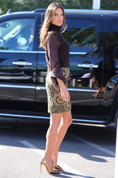 ALESSANDRA AMBROSIO on the Set of Extra at Universal
