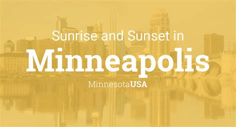 Sunrise and sunset times in Minneapolis, December 2021